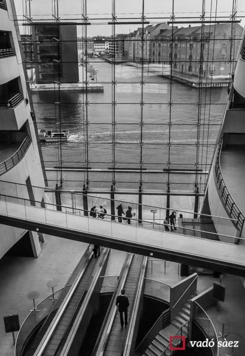 Interior de la biblioteca reial Copenhaguen