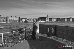 Parella contemplant el Copenhagen Havn